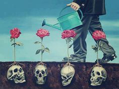"""""""From my rotting body, flowers shall grow and I am in them and that is eternity."""" Edvard Munch"""