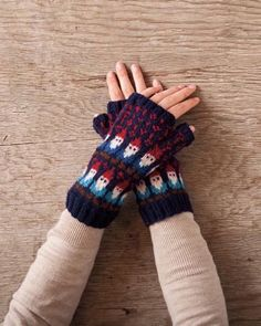 Gnome Mittens - Knitting Patterns and Crochet Patterns from KnitPicks.com