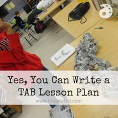 The following is an example of how this strategy can be applied to create a choice-based lesson plan. I'll go over the basics first, then we'll take a look at an actual TAB lesson from my classroom.