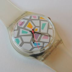 Vintage Swatch Watch Tintarella GK108 by CoolRelics on Etsy