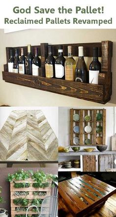 love the wine rack! reclaimed pallets revamped! upcycled & repurposed pallets