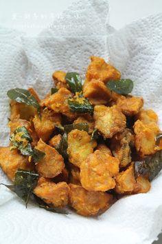 爱厨房的幸福之味: 酥炸黄金杏鲍菇(黄姜粉)
