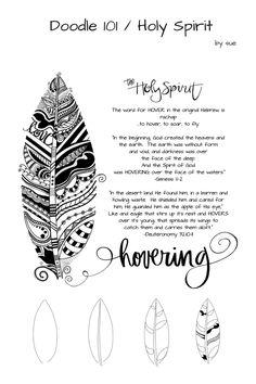 Doodle 101/HolySpirit/Hovering/SueCarroll Christian Drawings, Bible Doodling, Versos, Bible Scriptures, Holy Spirit, Scripture Doodle, Scripture Art, Bible Art, Bible Journal