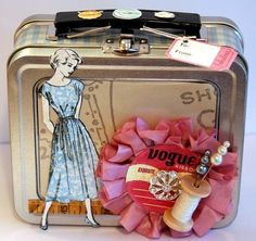 Fun sewing tin from Jessica on the MR DT blog