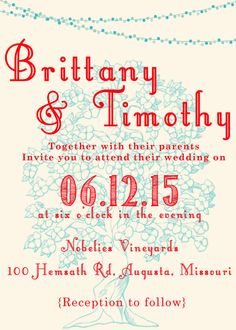 Outdoor Wedding Invitation by 612Imagery on Etsy