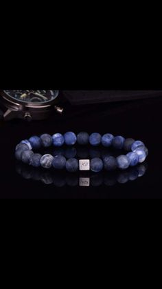 """NEW Exquisite Grade AA Natural Sodalite and Sterling Silver """"Kii"""" Bead by www. Fashion 2017, Sterling Silver, Beads, Natural, Design, Beading, Bead, Pearls"""