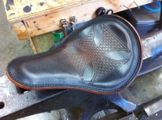 Anvil Cross Leather Chopper Motorcycle Seat