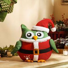 Add a plush Cuddly Christmas Santa Owl to your home for the holidays. #kirklands #holidaydecor #KirklandsHoliday