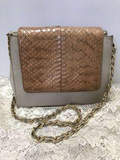 a334f55f62e2 Vintage Stylecraft Miami Leather Faux Snakeskin Shoulder Handbag Purse Two  Tone #StylecraftMiami #ShoulderBag #