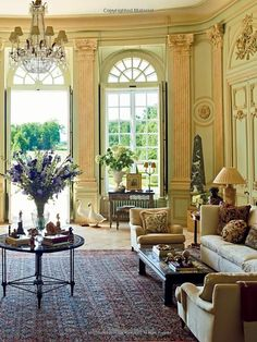 Grand Salon - Chateau du Grand-Lucé: Decorating a Great French Country House: French Interior, Classic Interior, French Decor, French Country Decorating, French Chic, French Style, Classic Style, Country Style Living Room, Classic Living Room