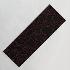 Organic - Red Yoga Mat by laec | Society6