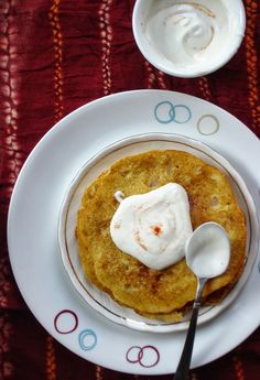 Puda or Indian crepe is a healthy Gujarati breakfast item.