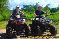 ATV engine started by the time you are ready. Ride them along the forest and landmark. You'll have an unforgettable adventure driving your vehicle along well-maintained trails through grassland