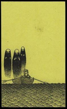 John Kenn Mortensen (Don Kenn) Arte Horror, Horror Art, Creepy Drawings, Art Drawings, Illustrations, Illustration Art, Don Kenn, Post It Art, Monster Drawing