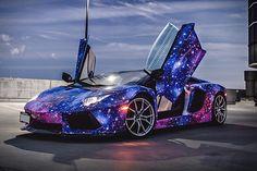 OMG!  Lamborghini Aventador Galaxy
