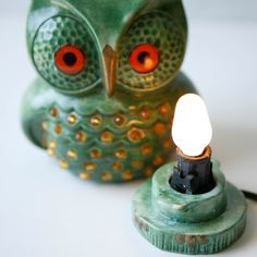 antidue owls | vintage owl light | Objects of Desire