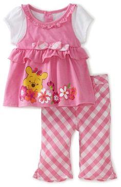 Amazon.com: Disney Baby-Girls Infant Winnie Mock Shirt and Pant Set: Clothing