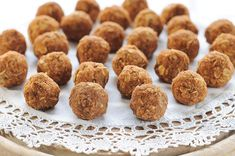 Doughnut holes - from rawmazing.....!  Holey Yumminess!! Another healthy holiday brunch idea!