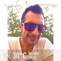 Buongiorno ☀️3⃣0⃣GRADI #instaweather #instaweatherpro #weather #wx #sky #outdoors #nature #world #love #beautiful #instagood #fun #cool #life #nice #milano #italia #day #spring #clear #it #relax #home #breakfast #sunglasses @TOM FORD #day #like #day #followers #tumblr #instagram #facebook #twitter #foursquare #pinterest (presso Milano Via Termopili)