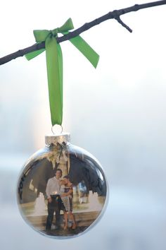 Rust & Sunshine: 12 Days of Christmas Ornaments - Day 3: Photo Bulbs