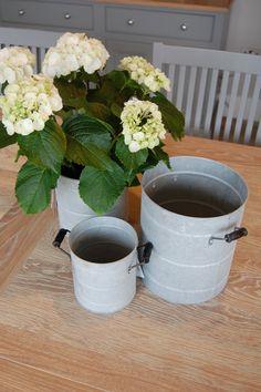 Set of 3 Zinc Bucket Planters Planter Pots, Bucket, Decor, Dekoration, Decoration, Buckets, Dekorasyon, Home Improvements, Decorating
