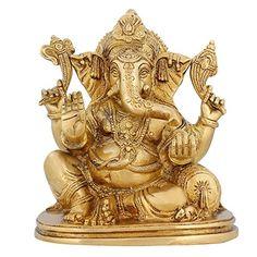 Hinduism In India Ganesha Statue Brass Religious Décor Hindu Pooja Temple 7 inch ShalinIndia http://www.amazon.in/dp/B010M3J550/ref=cm_sw_r_pi_dp_rCV3vb0EQXEP8