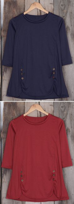Take a deep breath and relax in our side slit top! $19.99 Only with free shipping Now! This button detailed top is so cozy&warm and we can not leave without it! Can not deny it at Cupshe.com