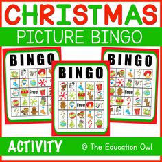 Have a holly jolly Christmas with this Christmas Picture BINGO Game. ⭐ 8 BINGO Cards, 1 Calling Card✧✧✧✧✧✧✧✧✧✧✧✧✧✧✧✧✧✧✧✧✧✧✧✧✧✧✧✧✧✧✧✧✧✧✧✧✧Claim Your TPT Credits!Go to your My Purchases page. Click Provide Feedback to leave me a quick rating! Every time you leave feedback, you get a credit toward futu... Christmas Printable Activities, Christmas Bingo Game, Bingo Pictures, Bingo Games, Calling Cards, Christmas Pictures, Teacher Newsletter, Winter Christmas, Teaching