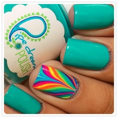 While preparing your best summer dress you should also try out fun and amazing #summer nail art! #nailart #nails