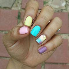 Pastel Nails #mani #nails #manicure