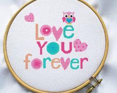 Owls Cross stitch pattern Counted cross stitch por MagicCrossStitch
