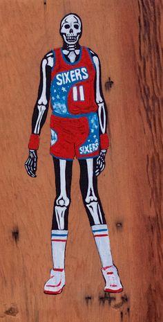 NBA Vertebrae    Manute Bol    NBA Art    Painting    Reclaimed Wood Art 06fca68c1