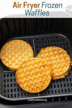 Oven Fryer, Air Fryer Oven Recipes, Air Frier Recipes, Air Fryer Dinner Recipes, Eggo Waffles, Frozen Waffles, Pancakes, Cooks Air Fryer, Chefman Air Fryer