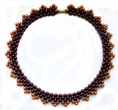 Free pattern for necklace Naomi ~ Seed Bead Tutorials