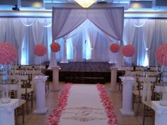 Ceremony with many design and rental elements