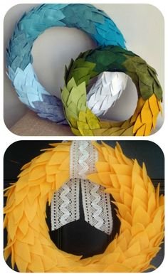 how to make a wreath diy fall wreath, fabric wreaths, DIY Yarn Wreaths, Felt Wreath Tutorials, Door Wreaths, Rag wreath, Book Page Wreath, Coffee Filter Wreath Tutorials, , Thanksgiving Wreath,