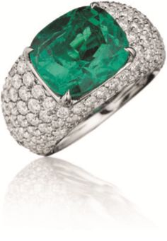 Rosamaria G Frangini | High Green Jewellery | PHILLIPS   A Colombian Emerald and Diamond Ring
