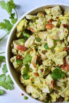 Bacon Avocado Chicken Salad Recipe - Wanting to eat healthy and nutritious without giving up your favorite foods? This Bacon Avocado Chicken Salad Recipe is full of flavor, healthy fats, no-mayo and is friendly. Easy Whole 30 Recipes, Paleo Recipes Easy, Clean Eating Recipes, Whole Food Recipes, Healthy Eating, Healthy Fats, Whole30 Recipes, Healthy Life, Avocado Salad Recipes