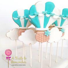 Air balloon sugar cookie pops for an Air balloon Safari party