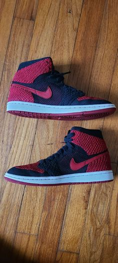 Air Jordan 1 high flyknit bred gs size 5 | Mercari Athletic Clothes, Athletic Outfits, Athletic Shoes, Jordan Retro 1, Jordan 1, Nike Free, Men's Shoes, Air Jordans, Nike Air
