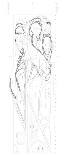 Generative design functions as picture recource focusing on parametric architecture and generative design. Architecture Paramétrique, Organic Architecture, Architecture Drawings, Architecture Graphics, Landscape Design Plans, Landscape Concept, Sketches Arquitectura, Plan Autocad, Architecture Organique