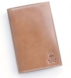 Psycho Bunny Shell Cordovan Passport Case