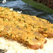 Khud Style Baked Indian Basa: Aditya Bal cooks a banana leaf wrapped basa #fish baked with some fragrant basmati rice in Raghogarh, Madhya Pradesh.