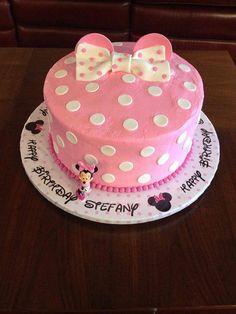 Minnie Birthday, Birthday Cakes, Baby Minnie Mouse Cake, Cake Smash, Cream, Desserts, Food, Creme Caramel, Tailgate Desserts