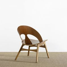 Børge Mogensen; Teak and Oak Lounge Chair for Erhard Rasmussen, 1949.