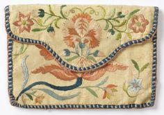 Card Case, 18th century  silk/linen. collection.cooperhewitt.org