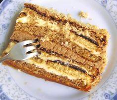 Jedna od najpopularnijih torti. Prigodna za razne svečanosti, jafa keksu u torti teško je odoleti.    Za koru:   14 jaja  14 kašika šećera  14 kašika prezle  14 kašika oraha  Fil I:   1l mleka  8 kašika šećera  8 kašika brašna  250 gr margarina  Fil II:   1dl vode  200