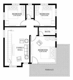 PLAN DESCRIPTION Modern house design is a 4 bedroom two story house which can be built in a 180 sq. lot having a minimum lot frontage of 12 meters. This design features 2 car garage,… 2 Storey House Design, Bungalow House Design, Small House Design, Modern House Design, Modern Filipino House, Double Storey House Plans, Small Cottage Designs, Plans Architecture, Model House Plan