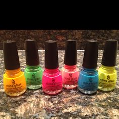 Summer Collection from China Glaze... Beautiful, bright colors!