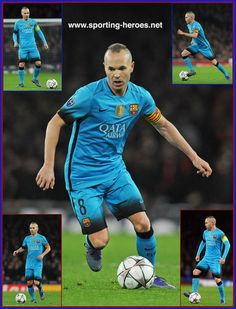 Andres Iniesta - Barcelona - 2015-16 Champions League K.O. Games.